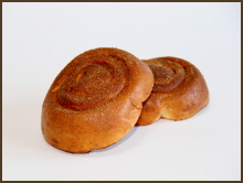 Baked roll with cinnamon